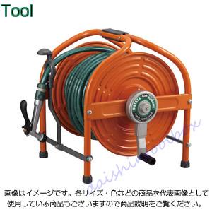 ハタヤリミテッド テツノホースリール(オレンジ)41m防藻ホース レバーノズル HLA-40N-O [B020108]