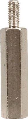 テイシン電機 黄銅スペーサー SBB-M3 オスーメス 100個入 SBB-395-E [A072121]