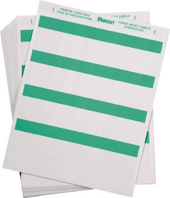 パンドウイット レーザープリンタ用セルフラミネートラベル 緑 S100X150YDJ [F040213]