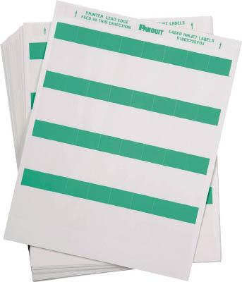 パンドウイット レーザープリンタ用セルフラミネートラベル 緑 S100X225YDJ [F040213]