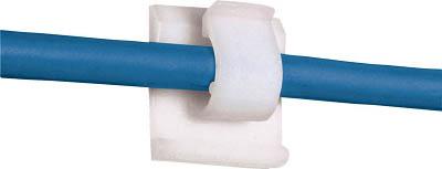 パンドウイット 固定具 コードクリップ ゴム系粘着テープ付き ナチュラル ACC38-A-M [A051700]