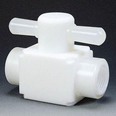 フロンケミカル フッ素樹脂(PTFE)メス二方バルブ圧入型 RC3/8 NR0006-002 [A092321]