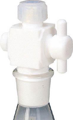 フロンケミカル フッ素樹脂 二方バルブ接続型アダプター 8用×TS15/25 NR0095-003 [A012022]