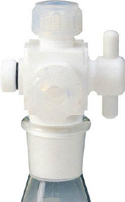 フロンケミカル フッ素樹脂 三方バルブ接続型アダプター 12用×TS19/28 NR0096-007 [A012022]