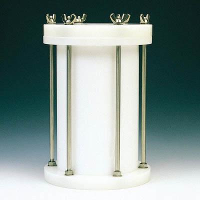 フロンケミカル フッ素樹脂 円筒型中圧用タンク 1000cc NR0117-001 [A012022]