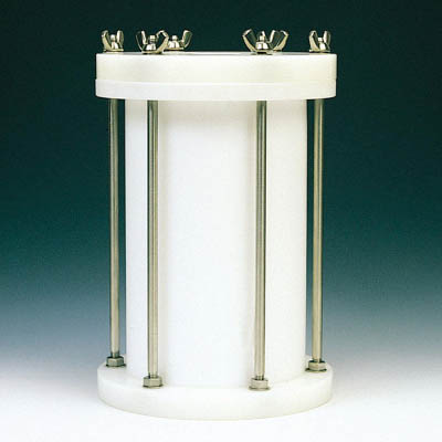 フロンケミカル フッ素樹脂 円筒型中圧用タンク 3000cc NR0117-003 [A012022]