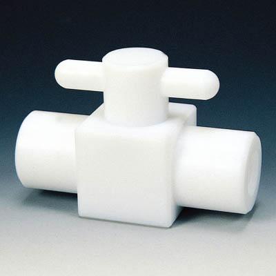 フロンケミカル PTFE コンパクト二方ボールバルブ RC1/4 フッ素ゴム NR1203-001 [A092321]