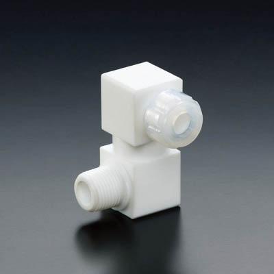 フロンケミカル フッ素樹脂フレキシブルハーフオスジョイント 8パイ×R1/2 NR1651-006 [A092321]