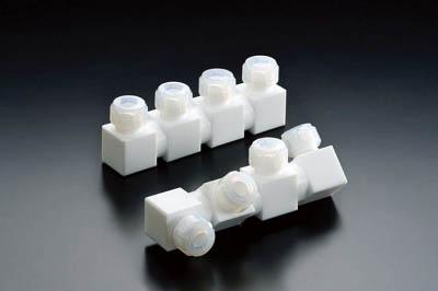 フロンケミカル フッ素樹脂フレキシブル多連ホルダー 三連式 10パイ NR1656-003 [A092321]