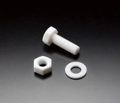 【◆◇マラソン!ポイント2倍!◇◆】フロンケミカル フッ素樹脂(PTFE)六角ボルト M10 (10個入) NR1663-004 [A012022]