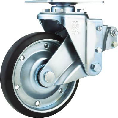 ユーエイキャスター 【代引不可】【直送】 重荷重用クッションキャスター 200径 自在ゴム車輪 SKY-S200WF [A050207]