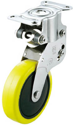 ユーエイキャスター クッションキャスター固定車100径帯電防止性ウレタン車輪 SKY-R100SUE-1 [A050207]
