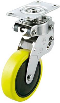 ユーエイキャスター クッションキャスター自在車125径帯電防止性ウレタン車輪 SKY-S125SUE-2 [A050207]