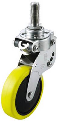 ユーエイキャスター クッションキャスター自在車100径帯電防止性ウレタン車輪 SKY-T100SUE-1-M12-35 [A050207]