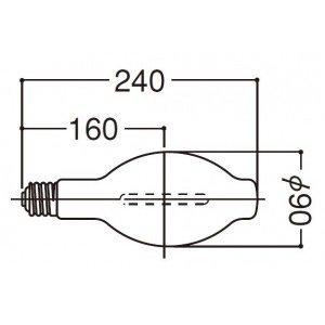 岩崎電気 【個人宅不可】 高圧ナトリウムランプ(FECサンルクスエース)180W NH180FLS [E010204]