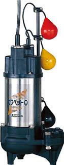 【★店内ポイント2倍!★】川本製作所 排水用樹脂製水中ポンプ(汚物用) WUO3-505-0.75T4LNG [B020605]
