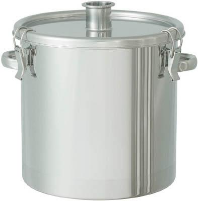 日東金属工業 【個人宅不可】 ステンレスタンク 粉体回収容器3Sへルール付 45L FK-CTH-39-F-3S [A180407]