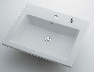 カクダイ KAKUDAI 【個人宅不可】 角型洗面器//1ホール・ポップアップ穴付き No.493-008H [A150101]