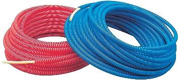カクダイ KAKUDAI サヤ管つき架橋ポリエチレン管(赤)13Ax22 No.672-132-50R [A150501]