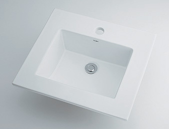 カクダイ KAKUDAI 【個人宅不可】 角型洗面器 No.493-093 [A150101]