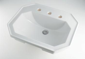 カクダイ KAKUDAI 【個人宅不可】 角型洗面器//3ホール No.DU-0476580030 [A150101]