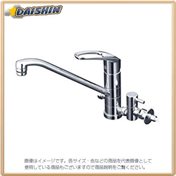 【★店内ポイント2倍!★】KVK 流し台混合栓 止水栓付 KM5041TTU [A150201]