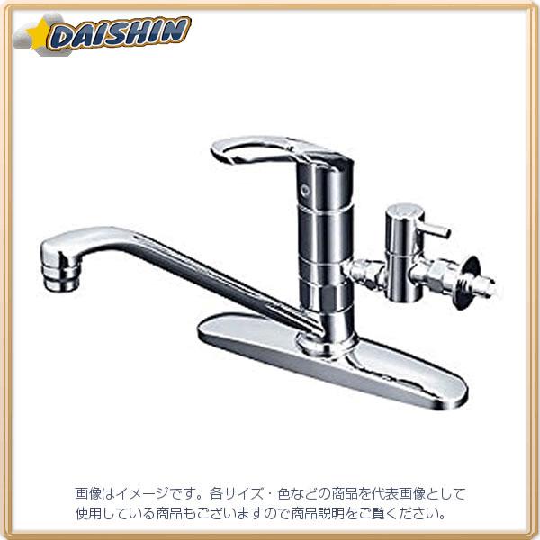 KVK 流し台混合栓 止水栓付 KM5091TTU [A150201]