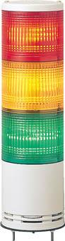 デジタル アローシリーズ 赤黄緑 100 積層式LED表示灯+ブザー UTLB-24-3RYG [A072121]