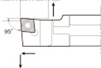 京セラ KYOCERA スモールツール用ホルダ S16F-SCLCL06 [A080115]