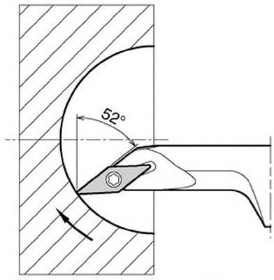 京セラ KYOCERA 内径加工用ホルダ S12M-SVJCR08-16A [A080115]