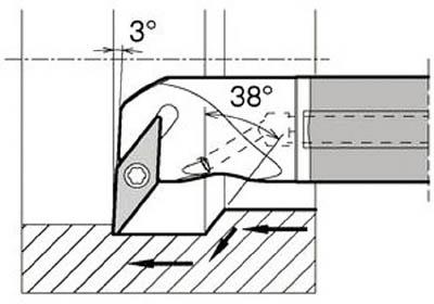 京セラ KYOCERA 内径加工用ホルダ E12Q-SVUCR08-18A [A080115]