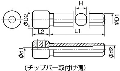 京セラ KYOCERA 内径加工用ホルダ PH0616-80 [A080115]