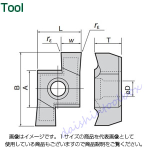 タンガロイ 旋削用溝入れTACチップ 超硬 TH10(10個入) 8GR200 [A080115]