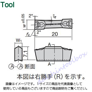 【◆◇マラソン!ポイント2倍!◇◆】タンガロイ 旋削用溝入れTACチップ 超硬 UX30(10個入) FLEX50L [A080115]