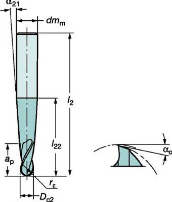 サンドビック コロミルプルーラ 超硬ソリッドエンドミル 1630 COAT R216.53-08040RAL15G 1630 [A071727]