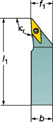 サンドビック コロターンTR 小型旋盤用シャンクバイト TR-V13JBR 1616K-S [A071727]