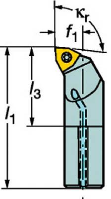 【◆◇マラソン!ポイント2倍!◇◆】サンドビック コロターン111 ポジチップ用ボーリングバイト A12M-SWLPL 04-R [A071727]