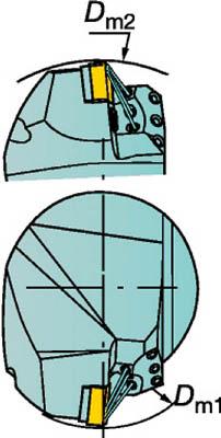 サンドビック コロマントキャプト T-Max P用HPカッティングヘッド C4-PCLNL-27050-12HP [A071727]