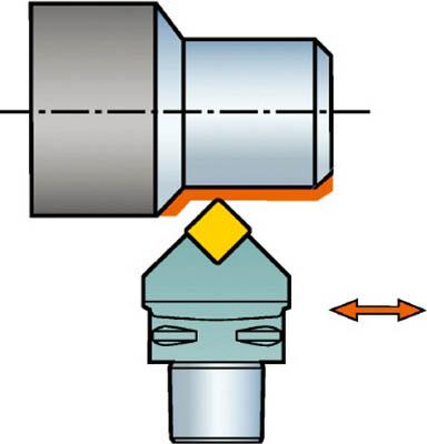 サンドビック コロマントキャプト セラミックチップ用カッティングヘッド C5-CSDNN-00060-12-4 [A071727]