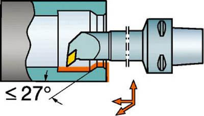 サンドビック コロマントキャプト コロターンRC用カッティングヘッド C6-DDUNL-27140-15 [A071727]
