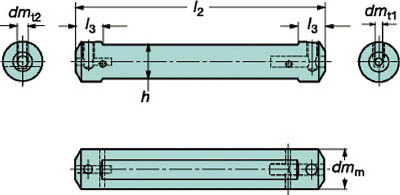 サンドビック コロターンXS 小型旋盤アダプタ CXS-A22-06 [A071727]