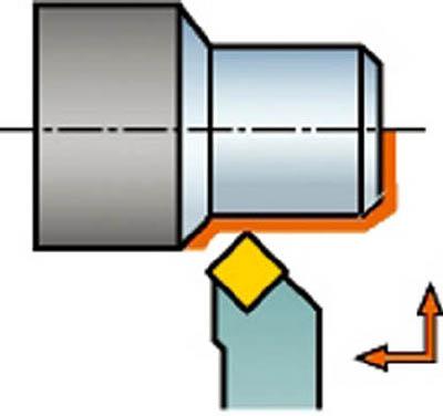 サンドビック コロターンRC セラミックチップ用シャンクバイト DSSNL 2525M 12-2 [A071727]