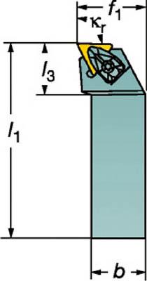 【◆◇マラソン!ポイント2倍!◇◆】サンドビック 【個人宅不可】 コロターンRC ネガチップ用シャンクバイト DTFNL 2525M 16 [A071727]