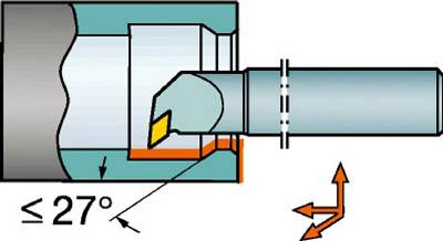 サンドビック コロターン107 ポジチップ用超硬ボーリングバイト E16R-SDUCR 07-ER [A071727]