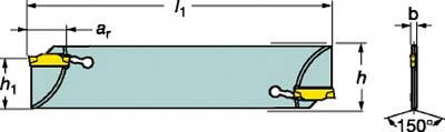 【◆◇マラソン!ポイント2倍!◇◆】サンドビック コロカット1・2 突切りブレード(ダブルエンドタイプ) N123E20-25A2 [A071727]