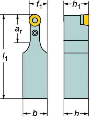 サンドビック T-Max P ポジチップ用シャンクバイト PRDCN 5050U 32 [A071727]