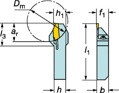 サンドビック 【個人宅不可】 QSホールディングシステム コロカット1・2用突切り・溝入れバイト QS-RF123F17-1616B [A071727]