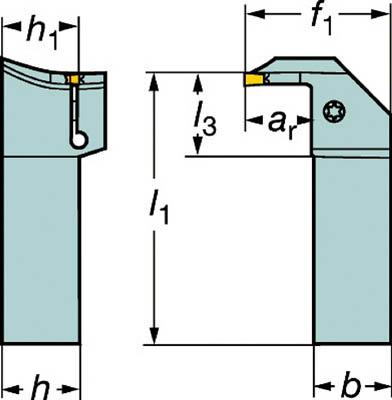 サンドビック コロカット1・2 突切り・溝入れ用シャンクバイト RG123L20-2525B-050BM [A071727]