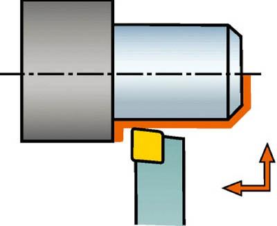 サンドビック 【個人宅不可】 コロターン107 小型旋盤用シャンクバイト SCACL 1616K 09-S [A071727]