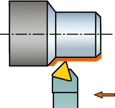 サンドビック コロターン107 ポジチップ用シャンクバイト STDCL 1616H 16 [A071727]